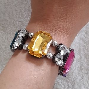 """Bracelet with Multicolored stones 9"""" inches"""